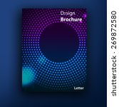 vector  violet   blue brochure  ... | Shutterstock .eps vector #269872580
