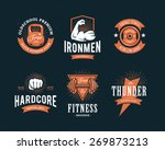 set of retro styled fitness... | Shutterstock .eps vector #269873213