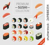 a vector set of japanese food... | Shutterstock .eps vector #269888354