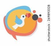 wedding bird flat icon with... | Shutterstock .eps vector #269893328