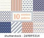 set of ten seamless patterns in ... | Shutterstock .eps vector #269895314