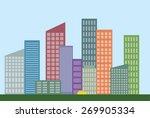 urban landscape  | Shutterstock .eps vector #269905334