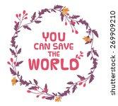 vector illustration. save the... | Shutterstock .eps vector #269909210