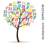 music tree with bright color... | Shutterstock .eps vector #269913248