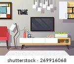 living room interior concept... | Shutterstock .eps vector #269916068
