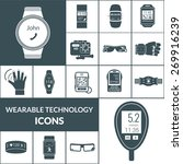 wearable technologies icons... | Shutterstock .eps vector #269916239