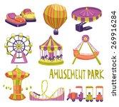 amusement park funfair carnival ... | Shutterstock .eps vector #269916284