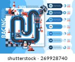 racing infographics set with... | Shutterstock .eps vector #269928740
