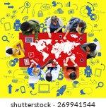 global communication social... | Shutterstock . vector #269941544