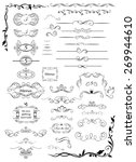 vintage ruler  divider and title | Shutterstock .eps vector #269944610