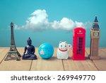travel around the world concept.... | Shutterstock . vector #269949770
