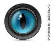 isolated on white camera lens...   Shutterstock .eps vector #269958140