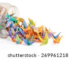 origami paper birds getting out ... | Shutterstock . vector #269961218