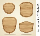 set of wood elements for design.... | Shutterstock .eps vector #269961410