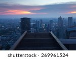 bangkok city twilight view from ... | Shutterstock . vector #269961524