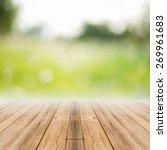 perspective brown wood over... | Shutterstock . vector #269961683