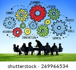 team teamwork goals strategy... | Shutterstock . vector #269966534