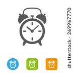 alarm symbol icon object flat... | Shutterstock .eps vector #269967770