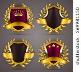 set of luxury golden badges... | Shutterstock . vector #269981150