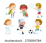 sport for kids including... | Shutterstock .eps vector #270004784