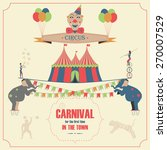 set of circus flat icons.... | Shutterstock .eps vector #270007529