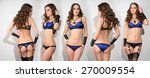 five girls in beautiful lingerie   Shutterstock . vector #270009554