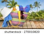 beach  summer  bag. | Shutterstock . vector #270010820