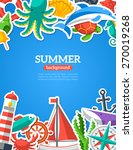 summer concept with flat icons. ... | Shutterstock .eps vector #270019268