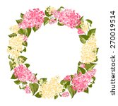 wreath of twigs of lilac for... | Shutterstock .eps vector #270019514