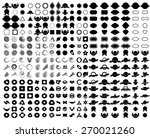 mega logo set . vector design... | Shutterstock .eps vector #270021260