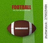 football on a grass field.... | Shutterstock .eps vector #270025484