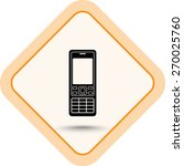 cell phone sign icon  vector... | Shutterstock .eps vector #270025760