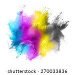 Cmyk Colored Dust Cloud On...
