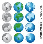 globes in different colors | Shutterstock .eps vector #27003646