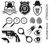 private detective agency.... | Shutterstock .eps vector #270042623