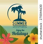 summer design over beachscape... | Shutterstock .eps vector #270044630