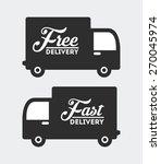 delivery service design  vector ... | Shutterstock .eps vector #270045974
