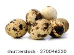 Quail Eggs Are Isolated On A...