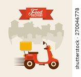 food delivery design  vector... | Shutterstock .eps vector #270046778