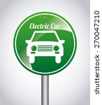 electric car design  vector... | Shutterstock .eps vector #270047210