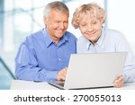 senior adult  couple  computer. | Shutterstock . vector #270055013