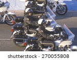 motorcycle police in formation... | Shutterstock . vector #270055808