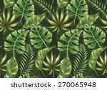 seamless pattern with palm... | Shutterstock .eps vector #270065948
