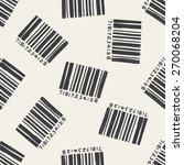 doodle barcode seamless pattern ... | Shutterstock . vector #270068204