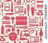vector background of makeup... | Shutterstock .eps vector #270069809