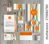 white corporate identity... | Shutterstock .eps vector #270082784