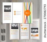 white brochure template design... | Shutterstock .eps vector #270082793