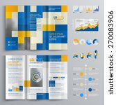 mosaic brochure template design ... | Shutterstock .eps vector #270083906