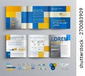 mosaic brochure template design ... | Shutterstock .eps vector #270083909