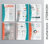 brochure template design with... | Shutterstock .eps vector #270084284